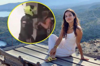 Natalia Reyes, que denunció un caso de abuso policial contra actor de Estados Unidos