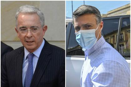 Álvaro Uribe Vélez y Leopoldo López, que se reunieron en la finca del expresidente