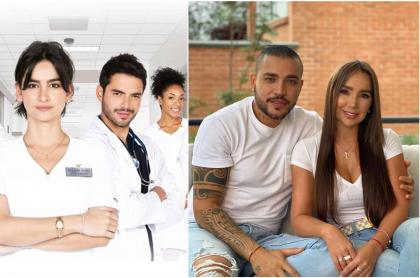 Fotomontaje de 'Enfermeras', Jessi Uribe y Paola Jara, a propósito de las novedades de RCN en 2021
