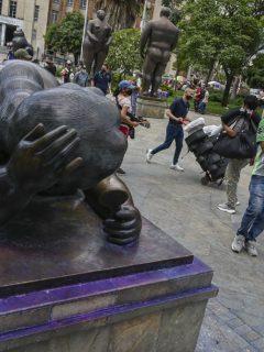 Obras de Fernando Botero en Medellín, que fueron pintadas.