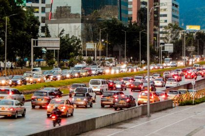 Imagen de un trancón, que ilustra nota; pico y placa en Bogotá: cambios para el 2021