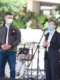 Leopoldo López en evento Claudia López y venezolanos