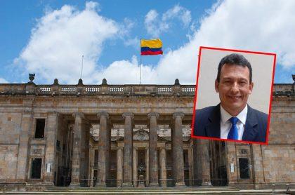 Imágenes del Congreso de la República y del representante Juan Carlos Reinales, envuelto en un posible caso de corrupción.