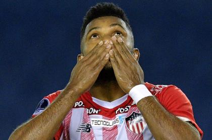 Miguel Ángel Borja se va de Junior diciendo que quería seguir. Imagen de referencia del jugador cordobés.