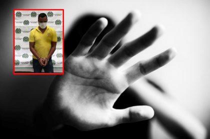 Imágenes que ilustran el abuso contra menores de edad.