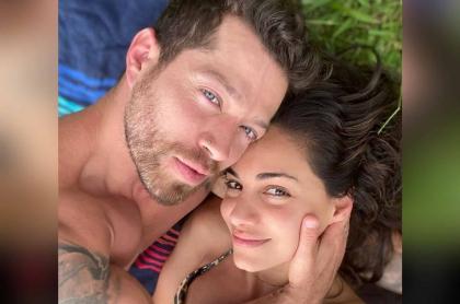 Foto de Valerie Domínguez y Juan David 'el Pollo' Echeverry, quienes se comprometieron