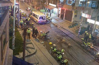 Balacera en el norte de Bogotá deja unas seis personas heridas.