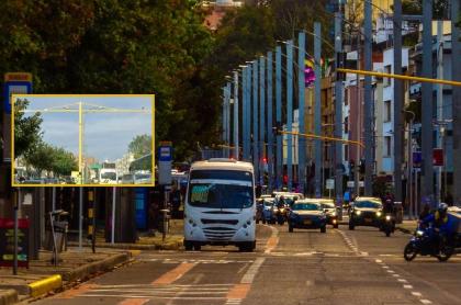 Foto de trancón en Bogotá y nuevo sistema de semaforización inteligente, ilustra nota sobre para qué sirven postes amarillos de Bogotá y si son para fotomultas.