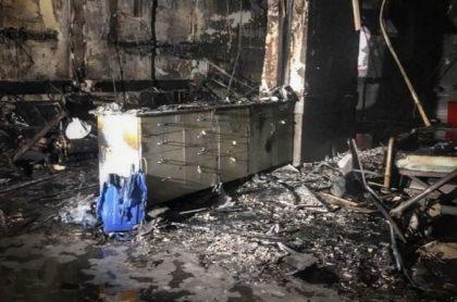 Hospital de Gaziantep, Turquía, luego de explosión que dejó nueve muertos.