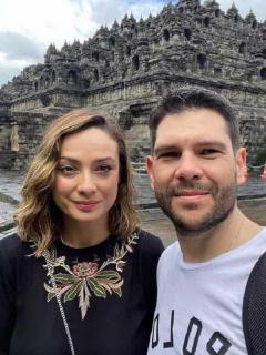 Foto de Mónica Jaramillo y Luis Eduardo Valencia, quienes celebraron 10 años de casados
