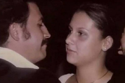 """Fotos viejas de Pablo Escobar y su esposa Victoria Eugenia Henao, a propósito de que ella habló de su matrimonio y dijo que él era un """"psicópata""""."""