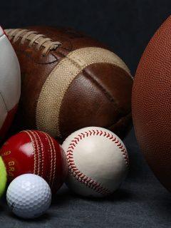 Elementos deportivos ilustran nota sobre cómo cambió el deporte en 2020