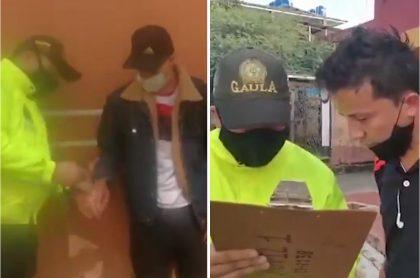 Momento en que integrantes de los 'Pikachu', banda acusada de paseos millonarios en Bogotá, son capturados.