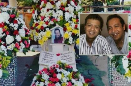 Fotos de la tumba de Diomedes Díaz y de él con su hijo Rafael Santos, que contó cómo murió 'el Cacique de La Junta' y lo último que le dijo.