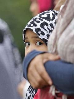Imagen de referencia de una niña filipina.