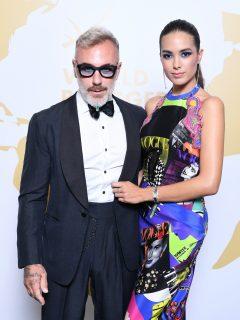 Foto de Gianluca Vacchi y Sharon Fonseca, quienes presentaron a su hija y confesaron que tiene paladar hendido