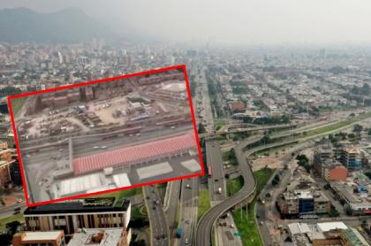 Imágenes de las calles desiertas en Bogotá.