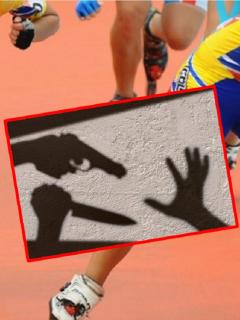 Imágenes que ilustran el robo a una patinadora.
