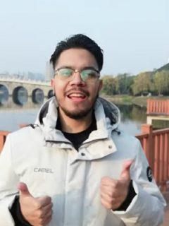 Imagen del colombiano en Wuhan que ahora se volvió 'youtuber'