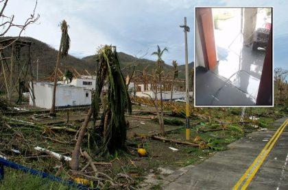 Foto de Providencia del 19 de noviembre, dos días después del paso del huracán Iota.
