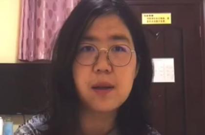 Zhang Zhan, la periodista ciudadana china que fue condenada a 4 años de cárcel por informar sobre el coronavirus en Wuhan