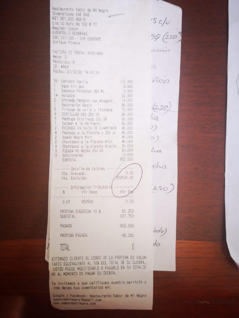 Cortesu00eda - Restaurante 'Sabor de mi negra'