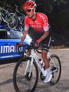 Winner Anacona es compañero de Nairo Quintana en el equipo francés Arkea Samsic.