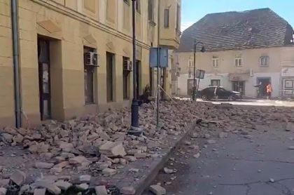 Impactante imagen de la ciudad de Petrinja, Croacia, luego de sufrir potente terremoto