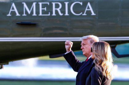 Donald Trump, el hombre más admirado en EEUU, junto a su esposa
