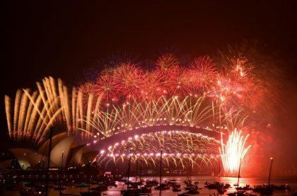 Juegos pirotécnicos para recibir el Año Nuevo en Australia