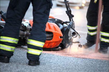 Imagen que ilustra accidentes de motociclistas en Bogotá, que causan trancones en Fontibón