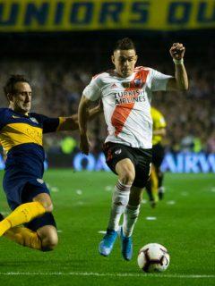 Foto de la semifinal de la Copa Libertadores 2019 ilustra nota sobre el primer Boca vs. River del 2021 con presencia colombiana