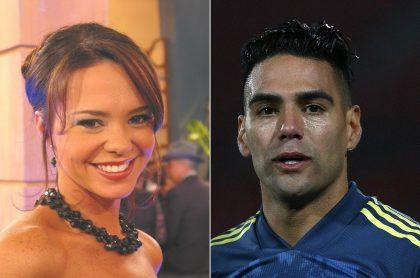 Natasha Klauss, en 'Pasión de gavilanes', y Falcao García, en partido de Colombia, ilustra nota sobre pasión del novio de ella y su relación con 'el Tigre'.