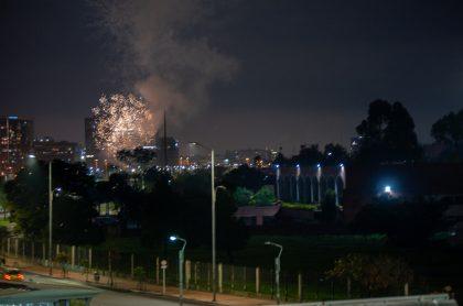Así fue la pólvora en la noche de año nuevo en Bogotá.
