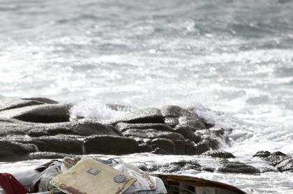 Imagen de naufragio ilustra artículo Naufragio en Urabá deja al menos 5 migrantes muertos y 14 desaparecidos