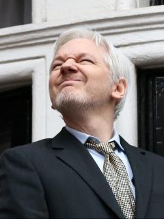 julian Assange, nominado al Premio Nobel de la Paz 2021, en Londres, Inglaterra.