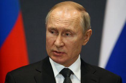 Vladimir Putin, presidente de Rusia, durante un evento público.