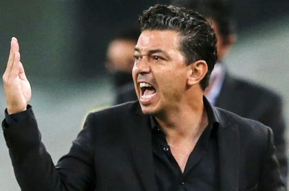 El enfado con la prensa de Marcelo Gallardo, técnico de River Plate. Imagen de referencia del entrenador argentino.