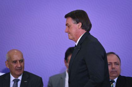 Jair Bolsonaro, presidente de Brasil. que dijo que su país está quebrado y no puede hacer nada