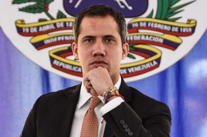 Juan Guaidó, que ya no es considerado ante la UE como presidente de Venezuela, en un evento público.