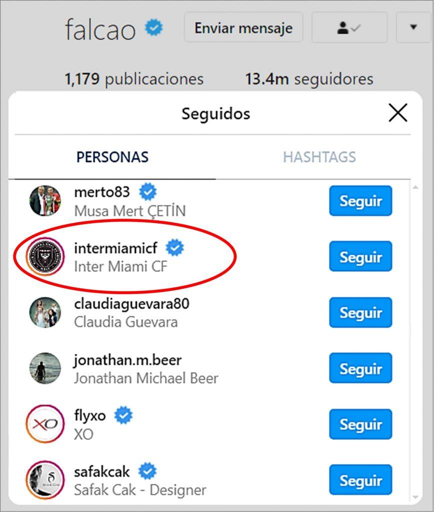 Instagram @Falcao