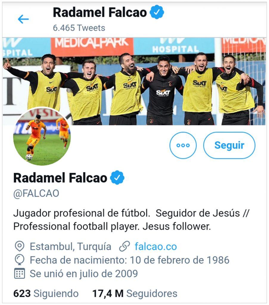 Twitter @Falcao