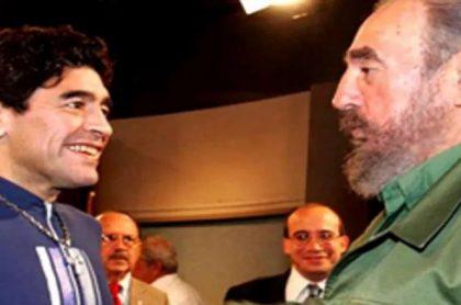 Diego Maradona y Fidel Castro, quien le regaló una casa en Cuba al argentino que ahora no se puede vender
