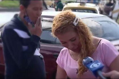 Imagen de la mujer que fue sorprendida sin tapabocas, en una calle en Kennedy, y que confesó que ya estuvo contagiada de COVID-19