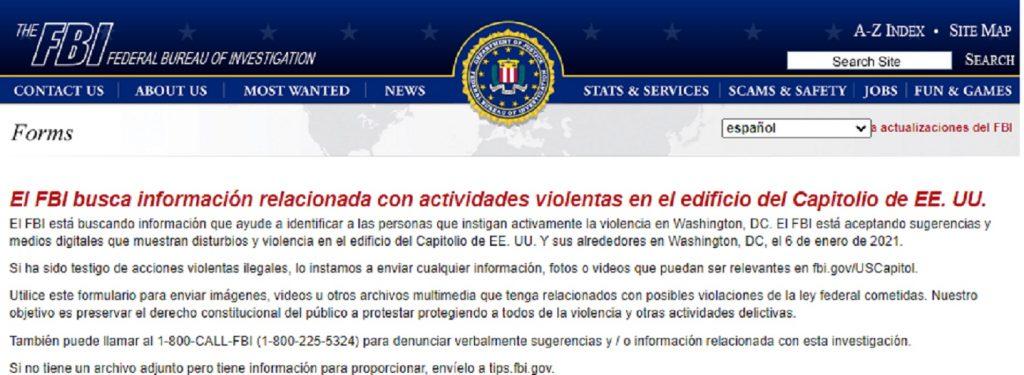 Anuncio del FBI