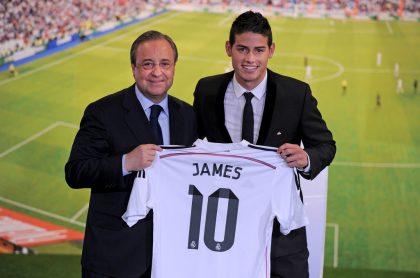 Foto ilustra nota sobe James Rodríguez, entre los 30 fichajes más caros de la historia.