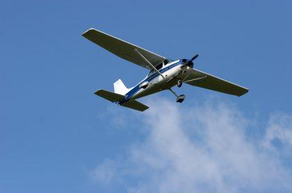 Imagen ilustrativa de una avioneta, a propósito de la desaparición de una aeronave.