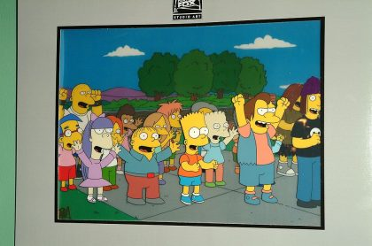 Foto de 'Los Simpson' ilustra nota sobre 'predicciones'; día de la posesión de Joe Biden