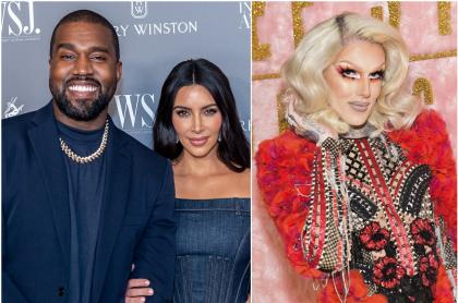 Foto de Kanye West, Kim Kardashian y Jeffree Star, a propósito de romance entre el rapero y el maquillador