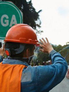 Imagen de cierres viales, que ilustra el estado de La Línea.